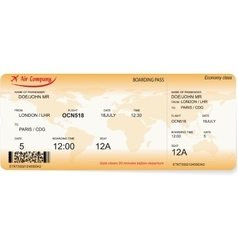 pattern of a boarding pass vector image vector image