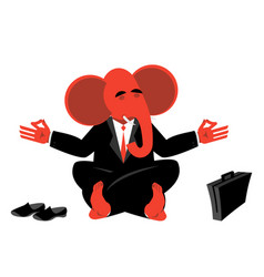 red elephant republican meditating symbol of usa vector image