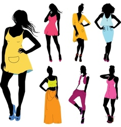 set of various model vector image vector image