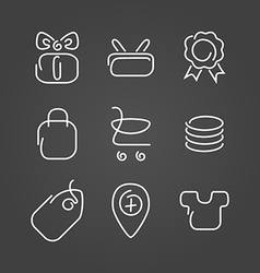 Trade sale set icons draw effect vector image vector image