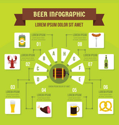 beer infographic concept flat style vector image vector image