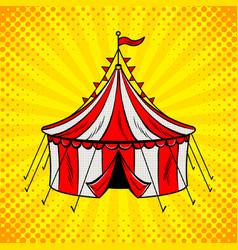 Circus tent cannon pop art vector