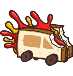 Cool Food Truck vector image