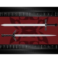 magic swords vector image vector image