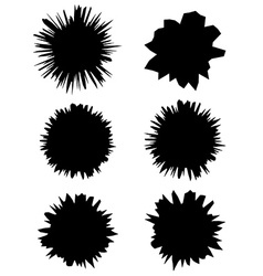 Set of holes with cracks in the paper Eps 10 vector image vector image