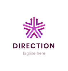 template direction logo creative business sign vector image vector image