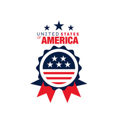 abstract round logo of united states of america vector image
