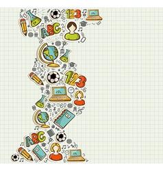 Back to School education cartoon icons vector image