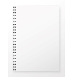 Blank Notepad vector image