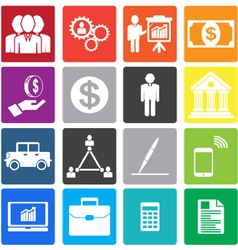 collection business icon vector image vector image