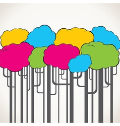 creative colorful tree background vector image