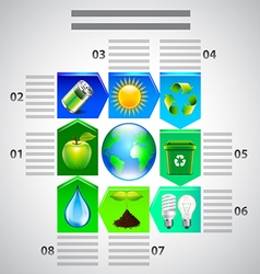 Environment inforgaphics Ecology objects vector image vector image