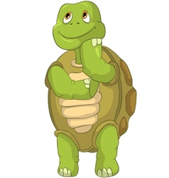 Funny Turtle Thinking vector image vector image