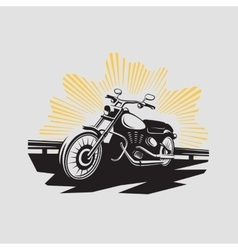 Motorcycle label Motorcycle symbol vector image