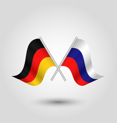 Two crossed german and russian flags vector
