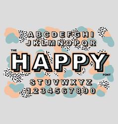 80 s retro alphabet font vintage alphabet vector