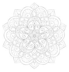 Adult coloring bookpage a cute zen mandala image vector