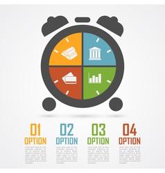 alarm clock infographic vector image