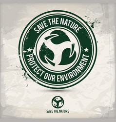 alternative nature saving stamp vector image