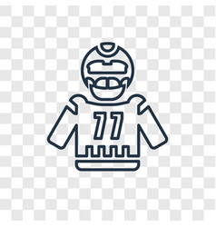 american football concept linear icon isolated on vector image