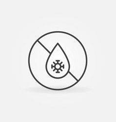 Antibacterial defense concept icon in thin vector