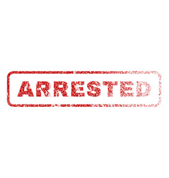 arrested rubber stamp vector image