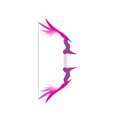 arrow love cupid bow valentine day heart vector image