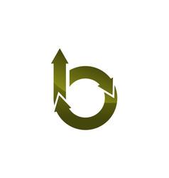 b letter logo design template vector image