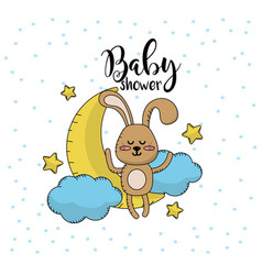 Baby shower to welcome a child in the family vector