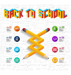 Back to school infographic design vector image
