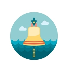 Bell marine flat icon vector image