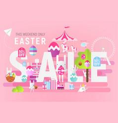 big easter sale vector image