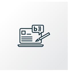 Blogging icon line symbol premium quality vector