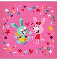 Bunnies in love 3 vector