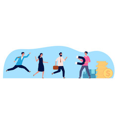 Businessman attraction people person magnet vector