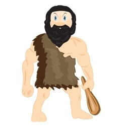 Cave person with blackjack vector image