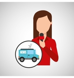 character woman reporter news graphic vector image