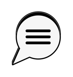 chat bubble with lines icon image vector image vector image