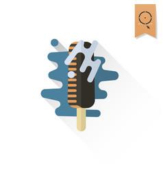 chocolate ice cream on a stick vector image
