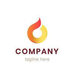 Circle company logo design element for business vector