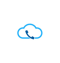 cloud call logo icon design vector image