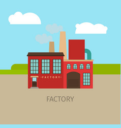 colored factory building vector image