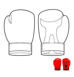 Coloring book of boxing gloves sports acces vector image