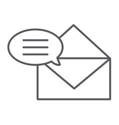 correspondence thin line icon email and mail vector image