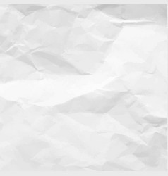 crumpled paper texture white empty leaf of vector image