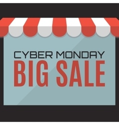 Cyber Monday sale background Web store concept vector
