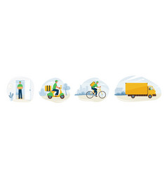 delivery service fast online vector image