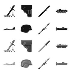 Design of weapon and gun symbol set of vector