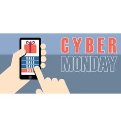 Digital cyber monday sale banner design vector image