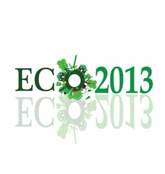 eco 2013 sign vector image